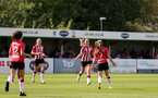 SOUTHAMPTON, ENGLAND - AUGUST 29: Georgie Freeland(7) of goal celebration during Women's National League Southern Premier match between Southampton Women and Gillingham at Snows Stadium on August 29, 2021 in Southampton, England. (Photo by Isabelle Field/Southampton FC via Getty Images)