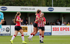 SOUTHAMPTON, ENGLAND - AUGUST 29: Ella Pusey goal celebration during Women's National League Southern Premier match between Southampton Women and Gillingham at Snows Stadium on August 29, 2021 in Southampton, England. (Photo by Isabelle Field/Southampton FC via Getty Images)