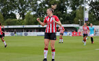 SOUTHAMPTON, ENGLAND - AUGUST 29: Ella Pusey of Southampton goal celebration during Women's National League Southern Premier match between Southampton Women and Gillingham at Snows Stadium on August 29, 2021 in Southampton, England. (Photo by Isabelle Field/Southampton FC via Getty Images)