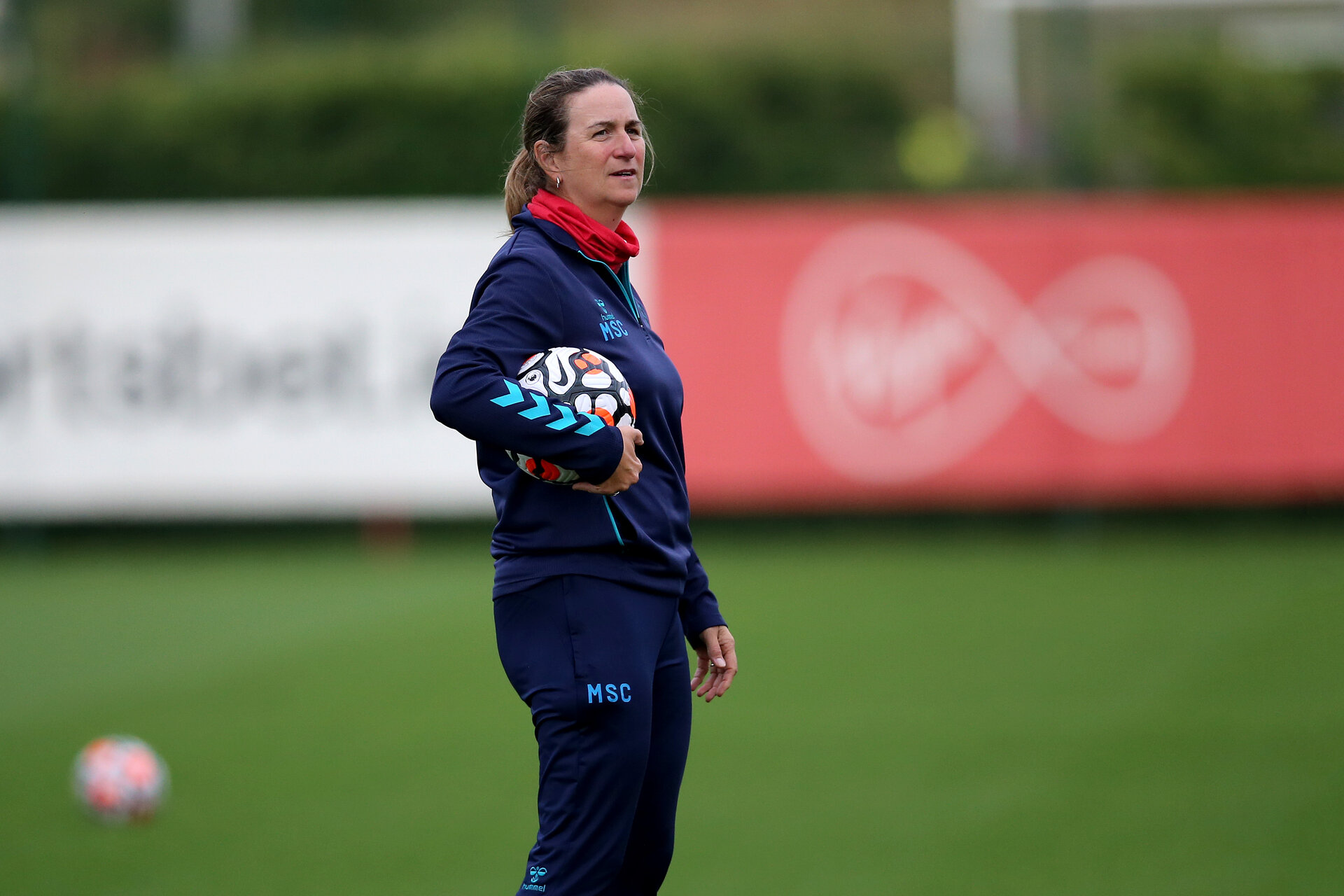 SOUTHAMPTON, ENGLAND - AUGUST 31: Marieanne Spacey-Cale during Southampton Women's training session at  Staplewood Training Ground on August 31, 2021 in Southampton, England. (Photo by Isabelle Field/Southampton FC via Getty Images)
