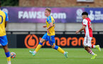 BOREHAMWOOD, ENGLAND - SEPTEMBER 02: Ryan Finnagan  of Southampton during the Premier League Cup match between Arsenal and Southampton B Team at Meadow Park on September 02, 2021 in Borehamwood, England. (Photo by Isabelle Field/Southampton FC )