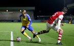BOREHAMWOOD, ENGLAND - SEPTEMBER 02: Dominic Ballard of Southampton during the Premier League Cup match between Arsenal and Southampton B Team at Meadow Park on September 02, 2021 in Borehamwood, England. (Photo by Isabelle Field/Southampton FC )