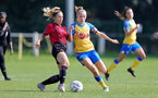 MIDDLESEX, ENGLAND - SEPTEMBER 05: Phoebe Williams(R) of Southampton during the Women's National League Southern Premier match between Hounslow and Southampton Women at Rectory Meadow on September 05, 2021 in Middlesex, England. (Photo by Isabelle Field/Southampton FC via Getty Images)