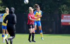 MIDDLESEX, ENGLAND - SEPTEMBER 05: Laura Rafferty(R) of Southampton during the Women's National League Southern Premier match between Hounslow and Southampton Women at Rectory Meadow on September 05, 2021 in Middlesex, England. (Photo by Isabelle Field/Southampton FC via Getty Images)