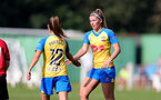 MIDDLESEX, ENGLAND - SEPTEMBER 05: Sophia Pharoah(L) and Ciara Watling(R) of Southampton during the Women's National League Southern Premier match between Hounslow and Southampton Women at Rectory Meadow on September 05, 2021 in Middlesex, England. (Photo by Isabelle Field/Southampton FC via Getty Images)