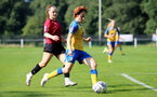 MIDDLESEX, ENGLAND - SEPTEMBER 05: Molly Mott(R) of Southampton during the Women's National League Southern Premier match between Hounslow and Southampton Women at Rectory Meadow on September 05, 2021 in Middlesex, England. (Photo by Isabelle Field/Southampton FC via Getty Images)