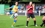 MIDDLESEX, ENGLAND - SEPTEMBER 05: Laura Rafferty(L) of Southampton during the Women's National League Southern Premier match between Hounslow and Southampton Women at Rectory Meadow on September 05, 2021 in Middlesex, England. (Photo by Isabelle Field/Southampton FC via Getty Images)