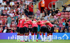 SOUTHAMPTON, ENGLAND - SEPTEMBER 11: Southampton players during the Premier League match between Southampton  and  West Ham United at St Mary's Stadium on September 11, 2021 in Southampton, England. (Photo by Isabelle Field/Southampton FC via Getty Images)