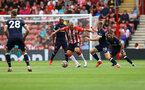 SOUTHAMPTON, ENGLAND - SEPTEMBER 11: Oriol Romeu of Southampton during the Premier League match between Southampton  and  West Ham United at St Mary's Stadium on September 11, 2021 in Southampton, England. (Photo by Matt Watson/Southampton FC via Getty Images)