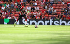 SOUTHAMPTON, ENGLAND - SEPTEMBER 11: Mohammed Salisu of Southampton during the Premier League match between Southampton  and  West Ham United at St Mary's Stadium on September 11, 2021 in Southampton, England. (Photo by Matt Watson/Southampton FC via Getty Images)