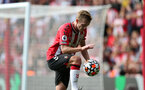SOUTHAMPTON, ENGLAND - SEPTEMBER 11: James Ward-Prowse during the Premier League match between Southampton and West Ham United at St Mary's Stadium on September 11, 2021, in Southampton, England. (Photo by Chris Moorhouse/Southampton FC via Getty Images)