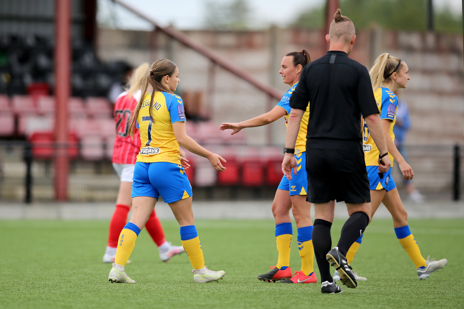 CHELTENHAM, ENGLAND - SEPTEMBER 12:  during the Women's FA National League Cup match between  Cheltenham Town and  Southampton Women at The Corinium Stadium on September 12, 2021 in  Cheltenham, England. (Photo by Isabelle Field/Southampton FC via Getty Images)