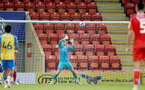 LONDON, ENGLAND - SEPTEMBER 14: Jack Bycroft of Southampton during the Papa John's Trophy match between Leyton Orient and Southampton B Team at Breyer Group Stadium on September 14, 2021 in London, England. (Photo by Isabelle Field/Southampton FC via Getty Images)