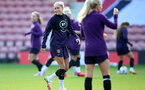 SOUTHAMPTON, ENGLAND - SEPTEMBER 16: Steph Houghton during England Women's training session at St Mary's Stadium on September 16, 2021 in Southampton, England. (Photo by Isabelle Field/Southampton FC via Getty Images)