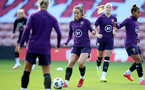 SOUTHAMPTON, ENGLAND - SEPTEMBER 16: Lucy Staniforth during England Women's training session at St Mary's Stadium on September 16, 2021 in Southampton, England. (Photo by Isabelle Field/Southampton FC via Getty Images)