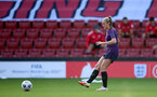 SOUTHAMPTON, ENGLAND - SEPTEMBER 16: Georgia Stanway during England Women's training session at St Mary's Stadium on September 16, 2021 in Southampton, England. (Photo by Isabelle Field/Southampton FC via Getty Images)