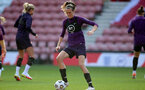 SOUTHAMPTON, ENGLAND - SEPTEMBER 16: Jill Scott during England Women's training session at St Mary's Stadium on September 16, 2021 in Southampton, England. (Photo by Isabelle Field/Southampton FC via Getty Images)