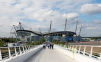 MANCHESTER, ENGLAND - SEPTEMBER 18: An exterior general view ahead of the Premier League match between Manchester City and Southampton at Etihad Stadium on September 18, 2021 in Manchester, England. (Photo by Matt Watson/Southampton FC via Getty Images)