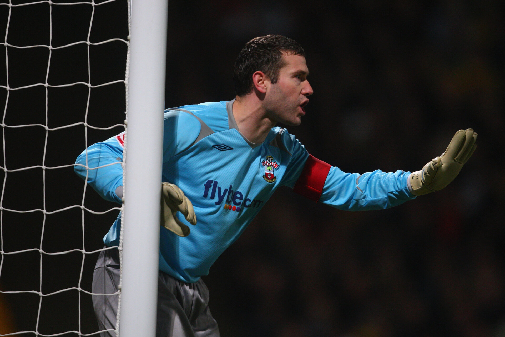 NORWICH, UNITED KINGDOM - JANUARY 27:  Kelvin Davis of Southampton gives instructions during the Coca-Cola Championship match between Norwich City and Watford at Carrow Road on January 27, 2009 in Norwich, England.  (Photo by Jamie McDonald/Getty Images)
