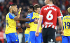 SHEFFIELD, ENGLAND - SEPTEMBER 21: Ibrahima Diallo(27) of Southampton celebrates with his team mates during the Carabao Cup Third Round match between Sheffield United and Southampton at Bramall Lane on September 21, 2021 in Sheffield, England. (Photo by Matt Watson/Southampton FC via Getty Images)