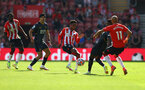SOUTHAMPTON, ENGLAND - SEPTEMBER 26: Kyle Walker-Peters of Southampton during the Premier League match between Southampton and Wolverhampton Wanderers at St Mary's Stadium on September 26, 2021 in Southampton, England. (Photo by Matt Watson/Southampton FC via Getty Images)