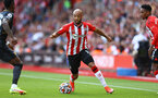 SOUTHAMPTON, ENGLAND - SEPTEMBER 26: Nathan Redmond of Southampton during the Premier League match between Southampton and Wolverhampton Wanderers at St Mary's Stadium on September 26, 2021 in Southampton, England. (Photo by Matt Watson/Southampton FC via Getty Images)