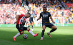 SOUTHAMPTON, ENGLAND - SEPTEMBER 26: Adam Armstrong during the Premier League match between Southampton and Wolverhampton Wanderers at St Mary's Stadium on September 26, 2021, in Southampton, England. (Photo by Chris Moorhouse/Southampton FC via Getty Images)