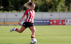 CHELTENHAM, ENGLAND - SEPTEMBER 26: Ciara Watling of Southampton during the FA National League Southern Premier match between   Southampton Women and London Bees at The Snows Stadium on September 26, 2021 in  Cheltenham, England. (Photo by Isabelle Field/Southampton FC via Getty Images)