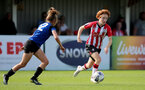 CHELTENHAM, ENGLAND - SEPTEMBER 26: Molly Mott(R) of Southampton during the FA National League Southern Premier match between   Southampton Women and London Bees at The Snows Stadium on September 26, 2021 in  Cheltenham, England. (Photo by Isabelle Field/Southampton FC via Getty Images)