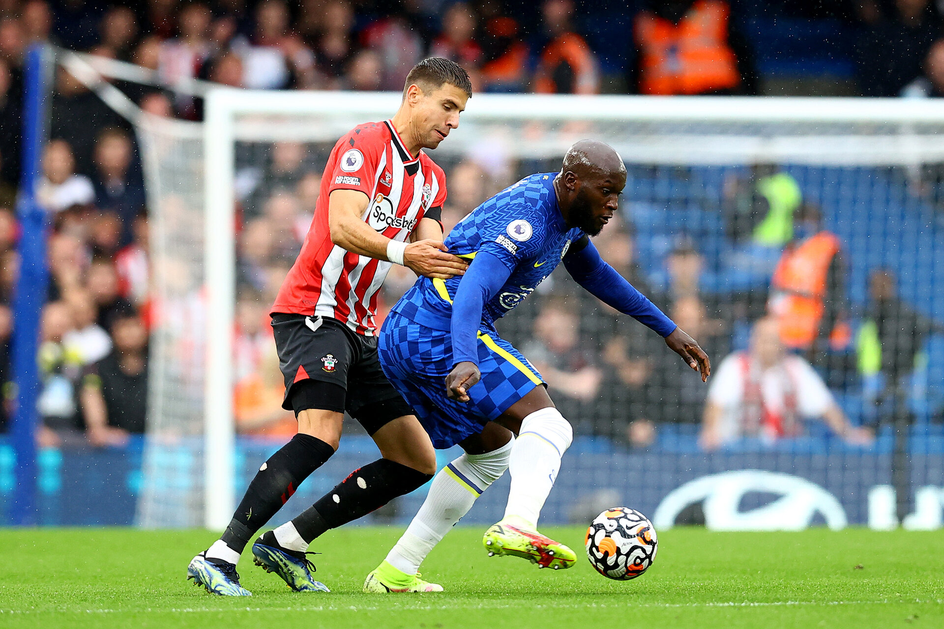 LONDON, ENGLAND - OCTOBER 02:  during the Premier League match between Chelsea and Southampton at Stamford Bridge on October 02, 2021 in London, England. (Photo by Matt Watson/Southampton FC via Getty Images)
