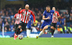 LONDON, ENGLAND - OCTOBER 02: Nathan Redmond(L) of Southampton during the Premier League match between Chelsea and Southampton at Stamford Bridge on October 02, 2021 in London, England. (Photo by Matt Watson/Southampton FC via Getty Images)