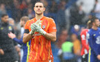 LONDON, ENGLAND - OCTOBER 02: Alex McCarthy of Southampton during the Premier League match between Chelsea and Southampton at Stamford Bridge on October 02, 2021 in London, England. (Photo by Matt Watson/Southampton FC via Getty Images)