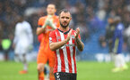 LONDON, ENGLAND - OCTOBER 02: Adam Armstrong of Southampton during the Premier League match between Chelsea and Southampton at Stamford Bridge on October 02, 2021 in London, England. (Photo by Matt Watson/Southampton FC via Getty Images)