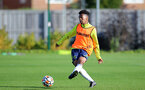 SOUTHAMPTON, ENGLAND - OCTOBER 11: Fedel Ross-Lang during Southampton U18s training session at Staplewood Training Ground on October 12, 2021 in Southampton, England. (Photo by Isabelle Field/Southampton FC via Getty Images)