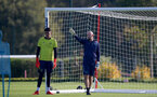 SOUTHAMPTON, ENGLAND - OCTOBER 11: Steve Grinham(R) during Southampton U18s training session at Staplewood Training Ground on October 12, 2021 in Southampton, England. (Photo by Isabelle Field/Southampton FC via Getty Images)