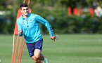 SOUTHAMPTON, ENGLAND - OCTOBER 13: Mohamed Elyounoussi during a Southampton FC training session at the Staplewood Campus on October 13, 2021 in Southampton, England. (Photo by Matt Watson/Southampton FC via Getty Images)